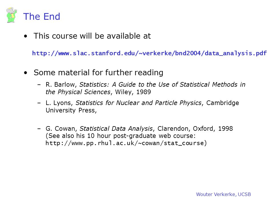 The End This course will be available at