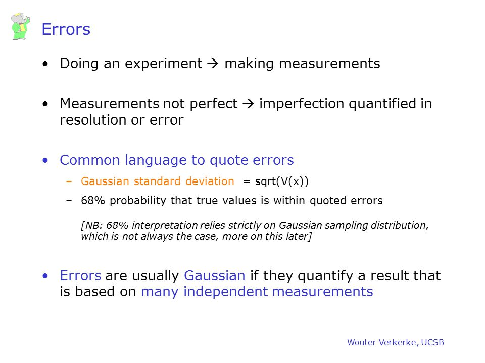 Errors Doing an experiment  making measurements