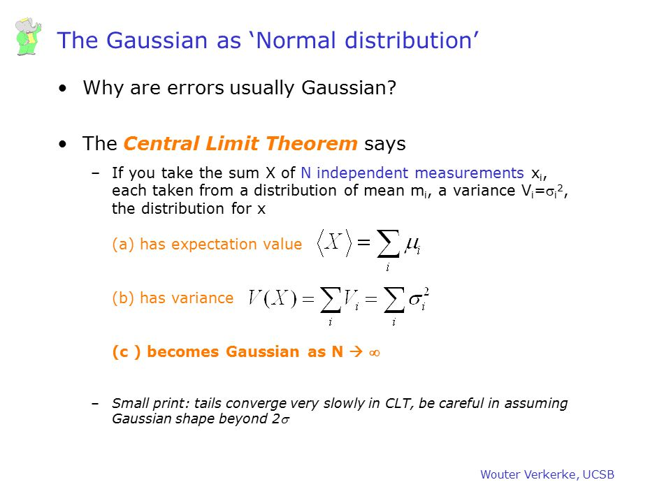 The Gaussian as 'Normal distribution'
