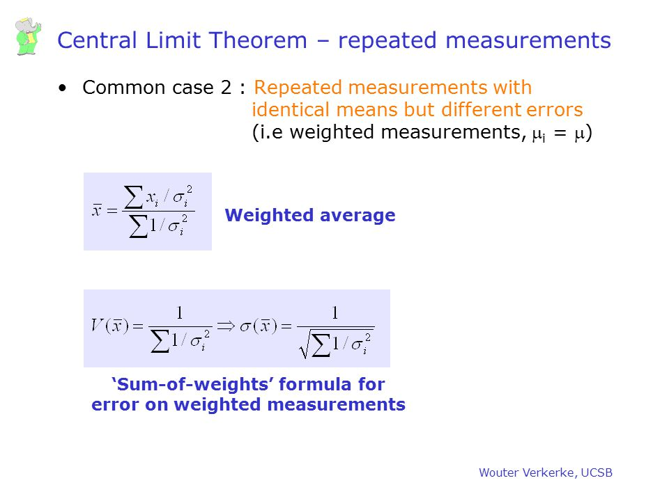 Central Limit Theorem – repeated measurements