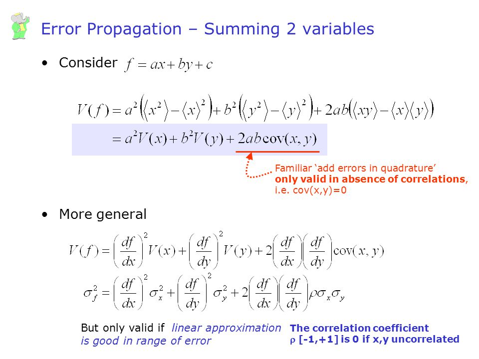 Error Propagation – Summing 2 variables