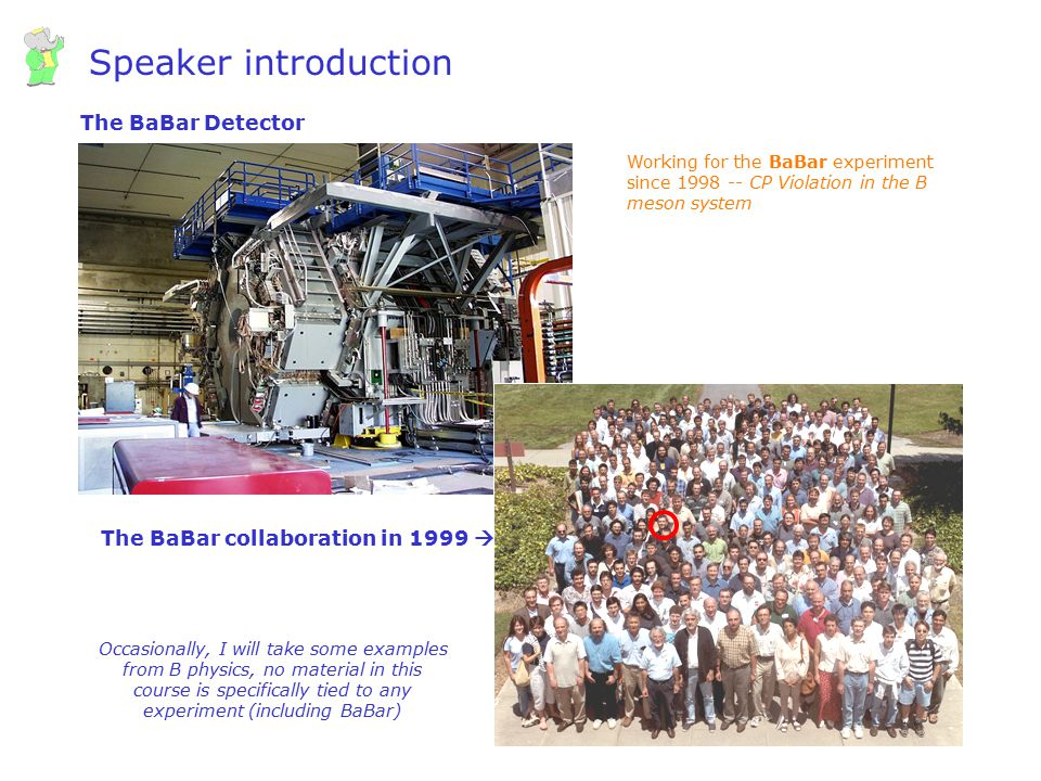 Speaker introduction The BaBar Detector