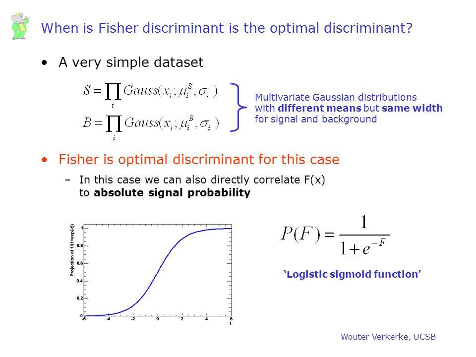When is Fisher discriminant is the optimal discriminant