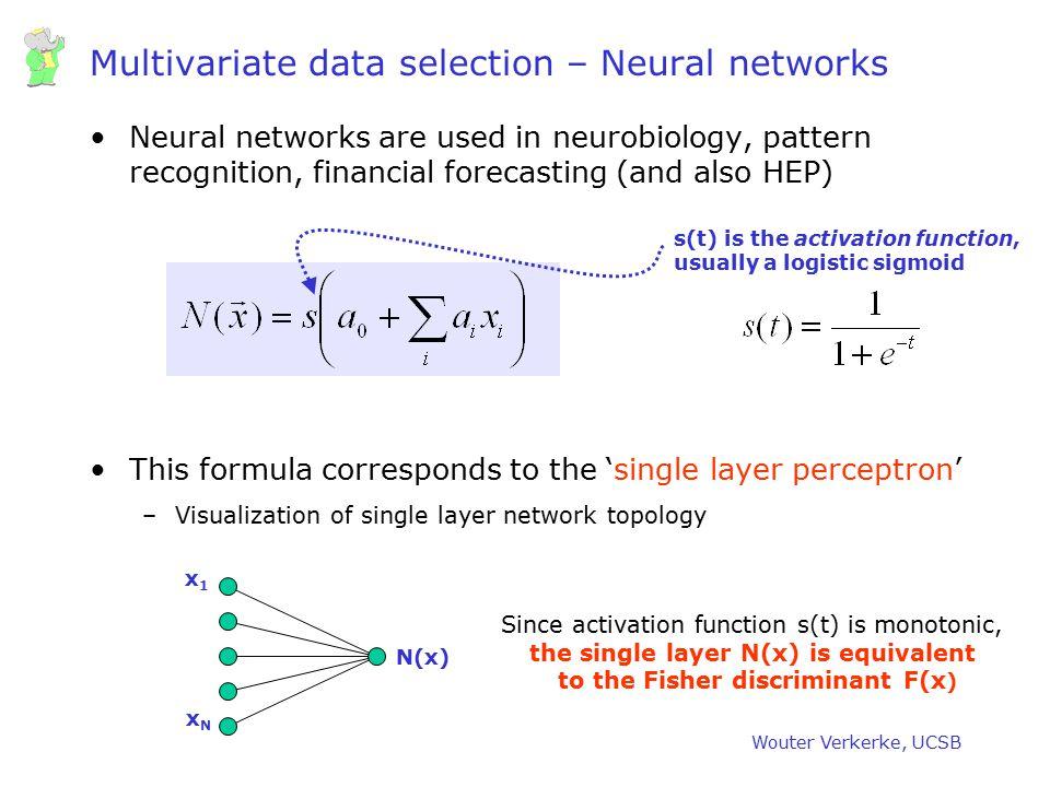 Multivariate data selection – Neural networks