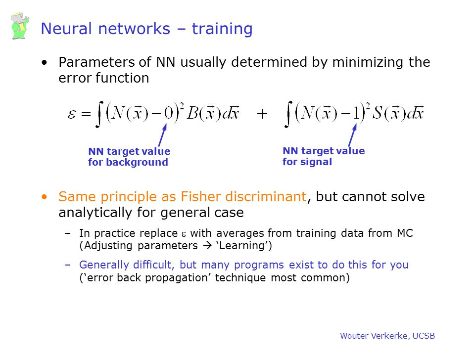 Neural networks – training