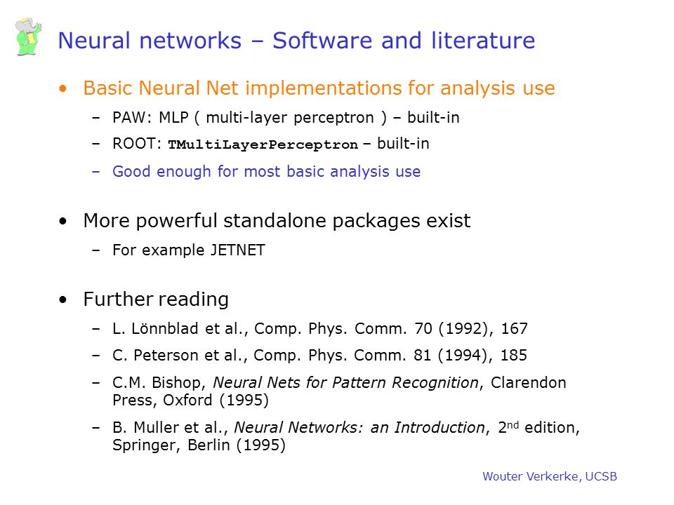 Neural networks – Software and literature