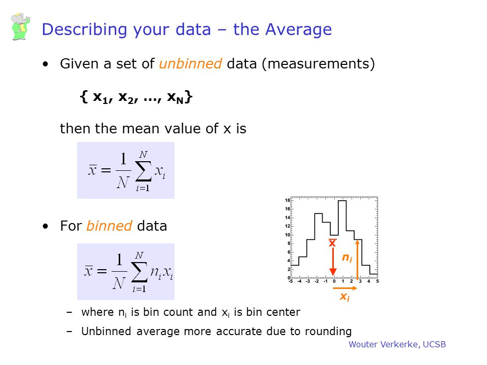 Describing your data – the Average