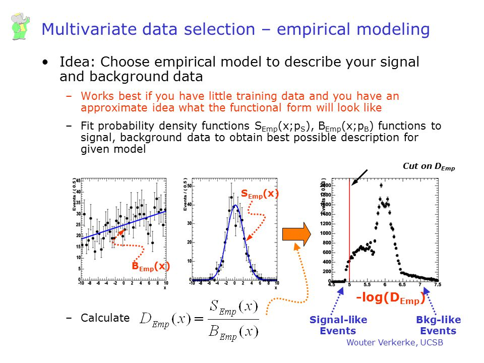 Multivariate data selection – empirical modeling