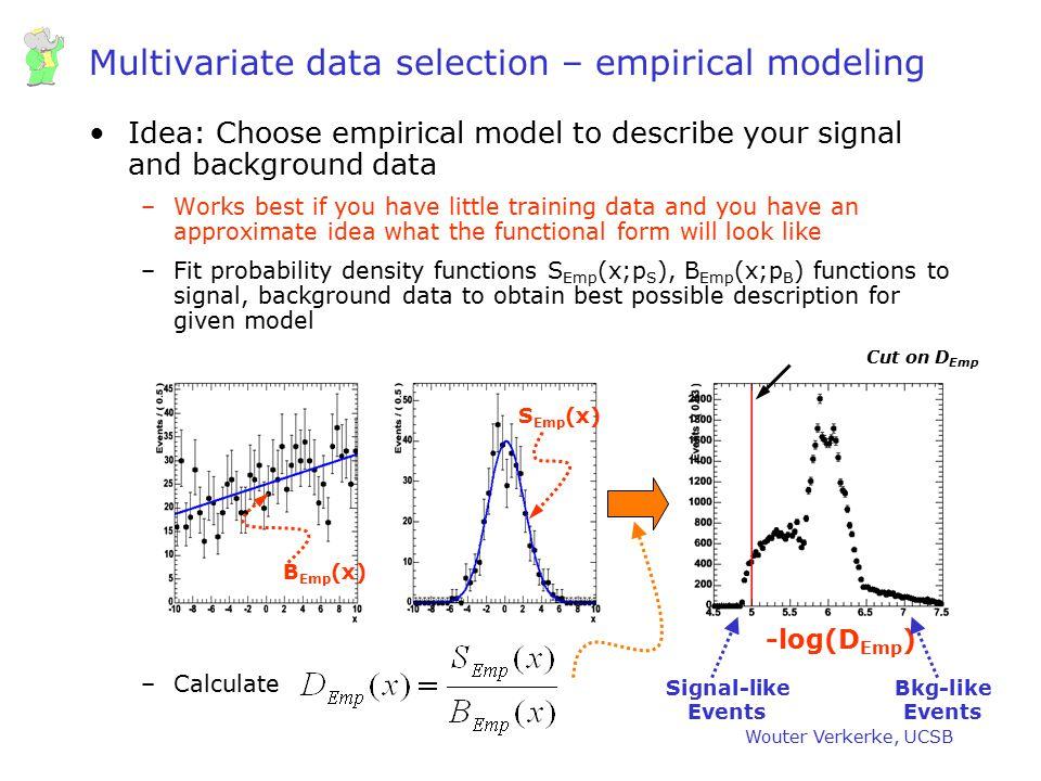 Multivariate data selection – empirical modeling