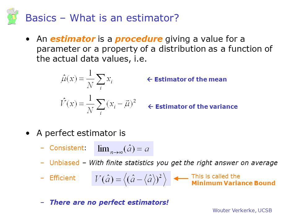 Basics – What is an estimator