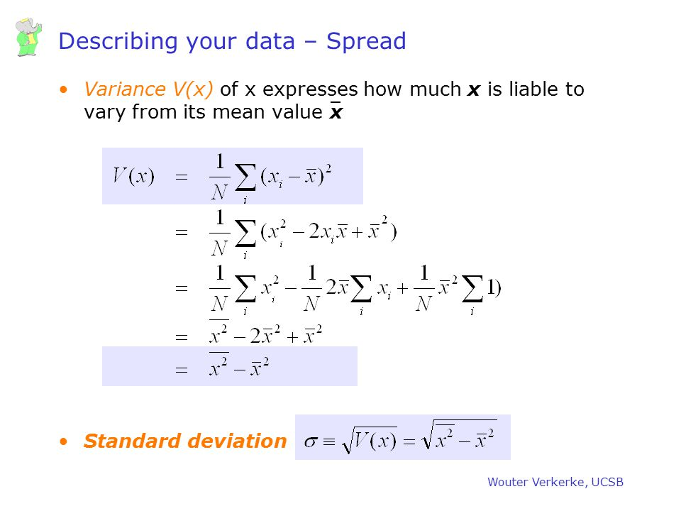 Describing your data – Spread