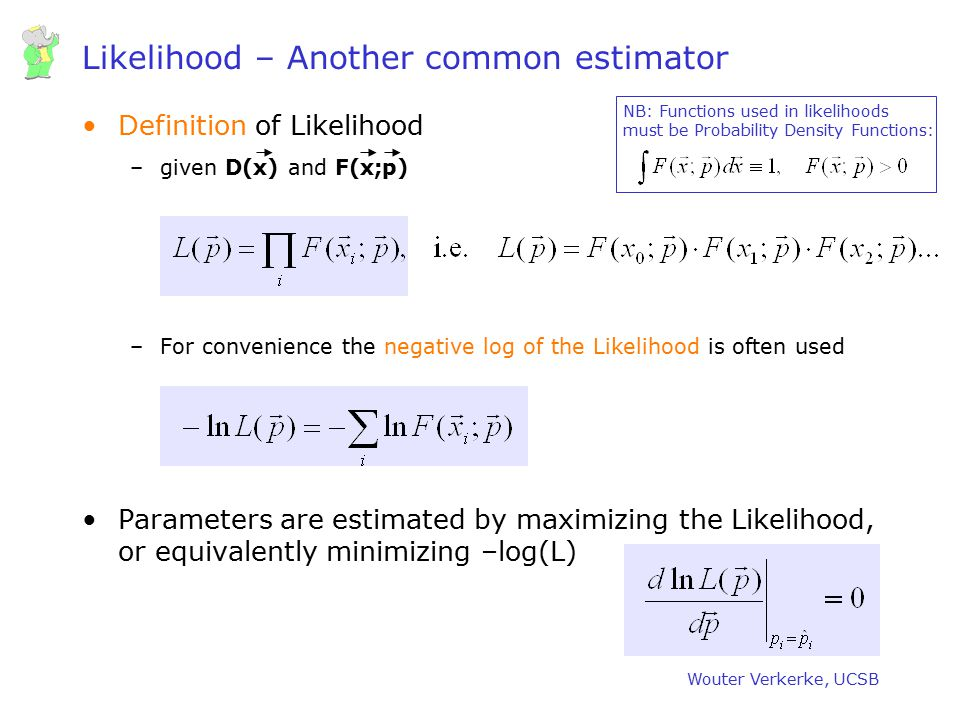 Likelihood – Another common estimator