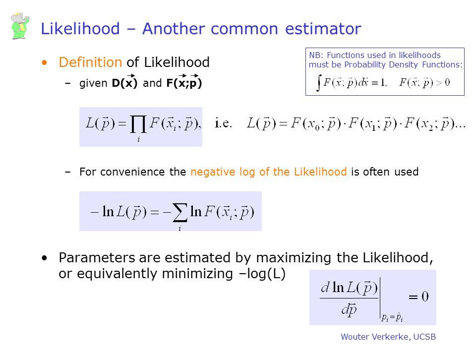 Likelihood – Another common estimator