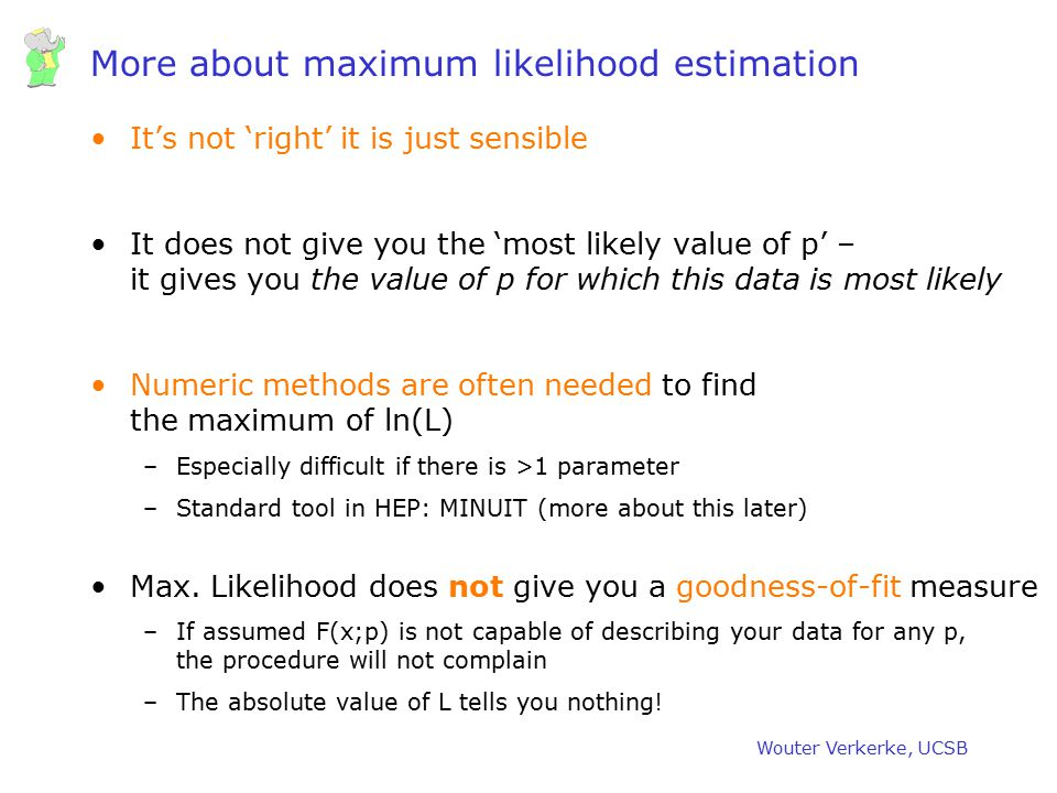 More about maximum likelihood estimation