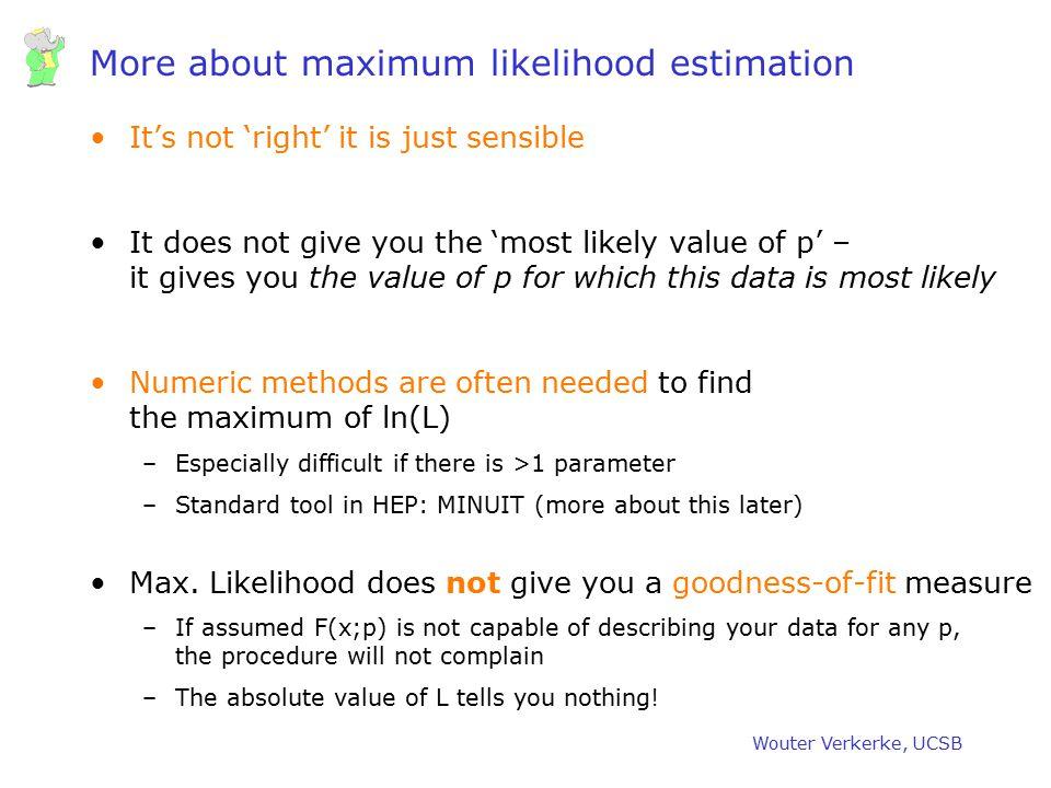 More about maximum likelihood estimation