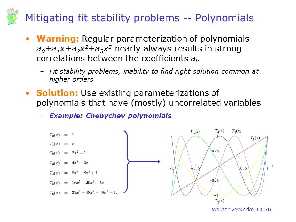 Mitigating fit stability problems -- Polynomials