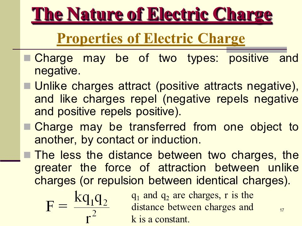 The Nature of Electric Charge