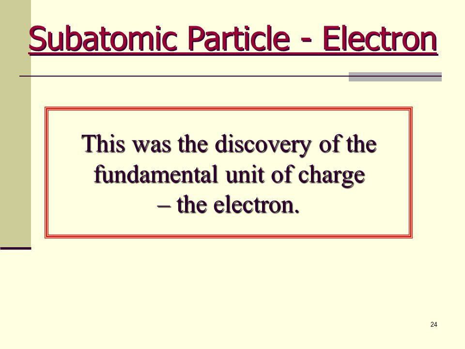 Subatomic Particle - Electron