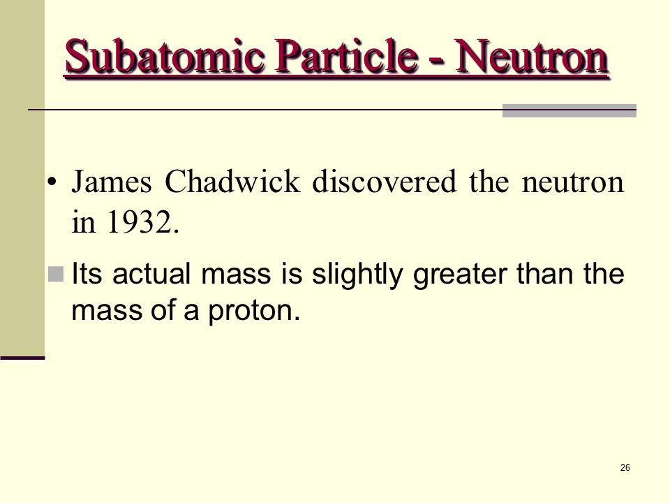 Subatomic Particle - Neutron