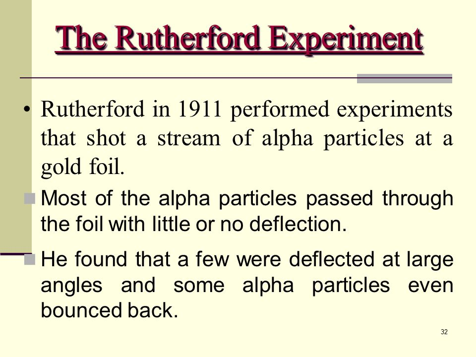The Rutherford Experiment