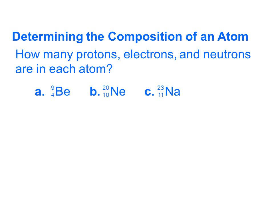 Determining the Composition of an Atom