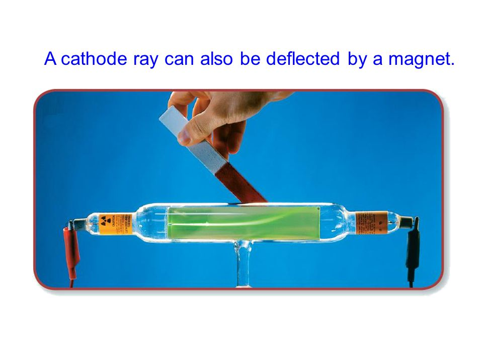 A cathode ray can also be deflected by a magnet.