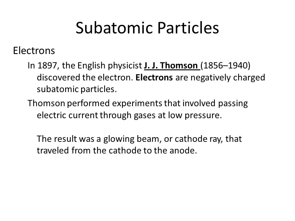 Subatomic Particles Electrons 4.2