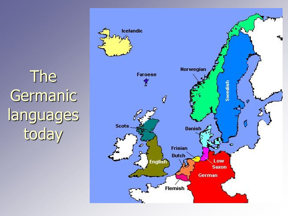 The Germanic languages today