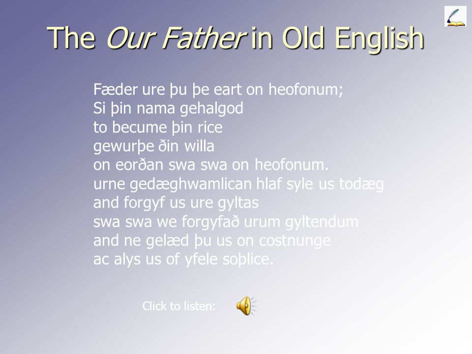 The Our Father in Old English