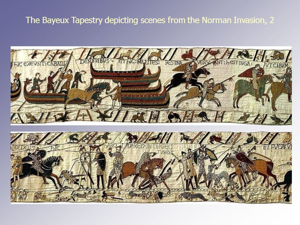 The Bayeux Tapestry depicting scenes from the Norman Invasion, 2