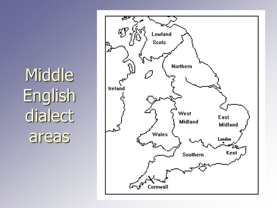 Middle English dialect areas
