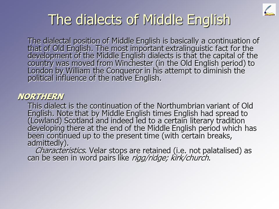 The dialects of Middle English