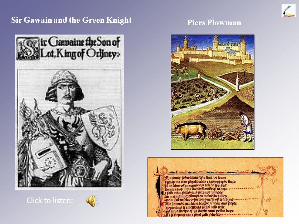 Sir Gawain and the Green Knight Piers Plowman