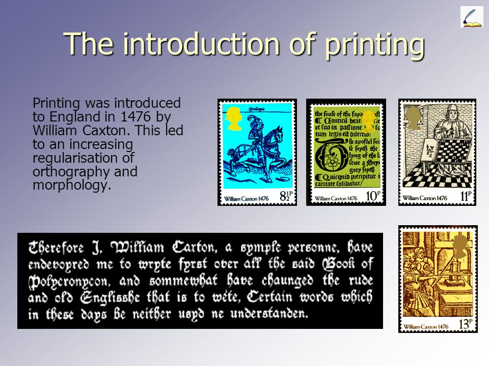 The introduction of printing
