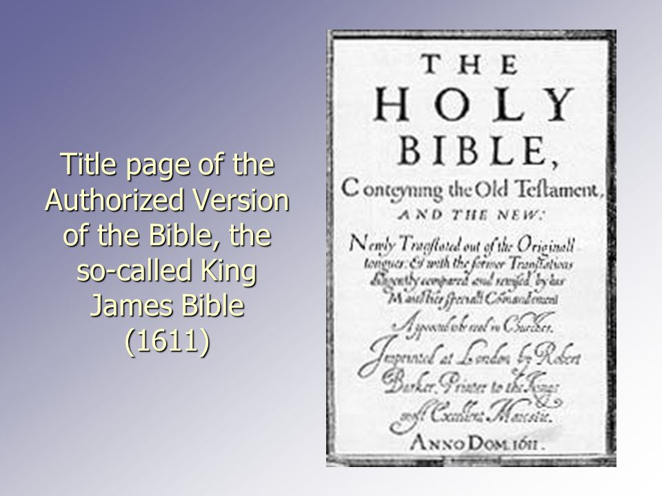 Title page of the Authorized Version of the Bible, the so-called King James Bible (1611)