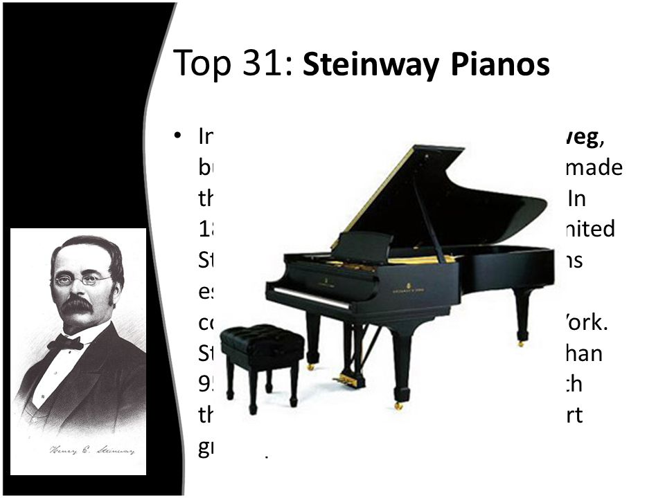 Top 31: Steinway Pianos