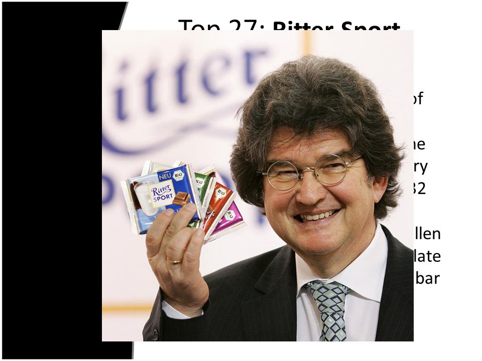 Top 27: Ritter Sport Chocolate