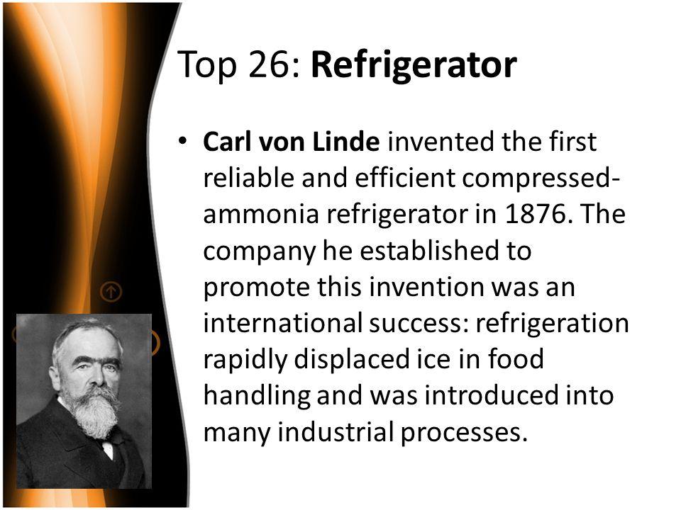 Top 26: Refrigerator