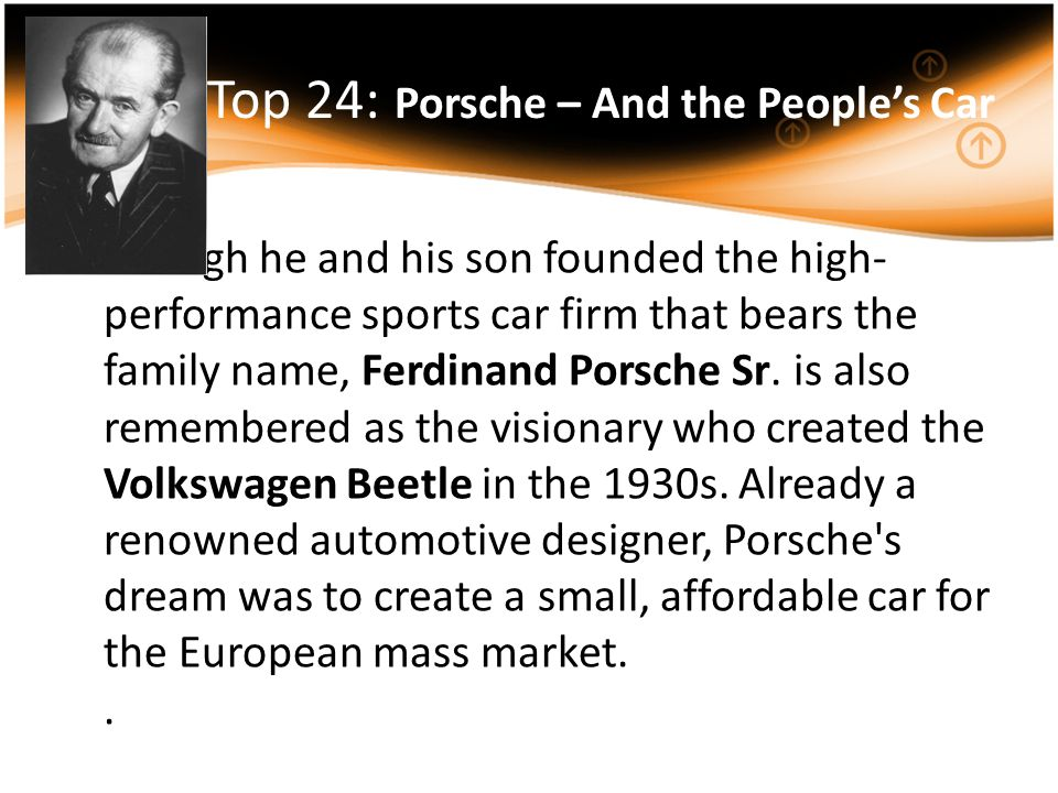 Top 24: Porsche – And the People's Car