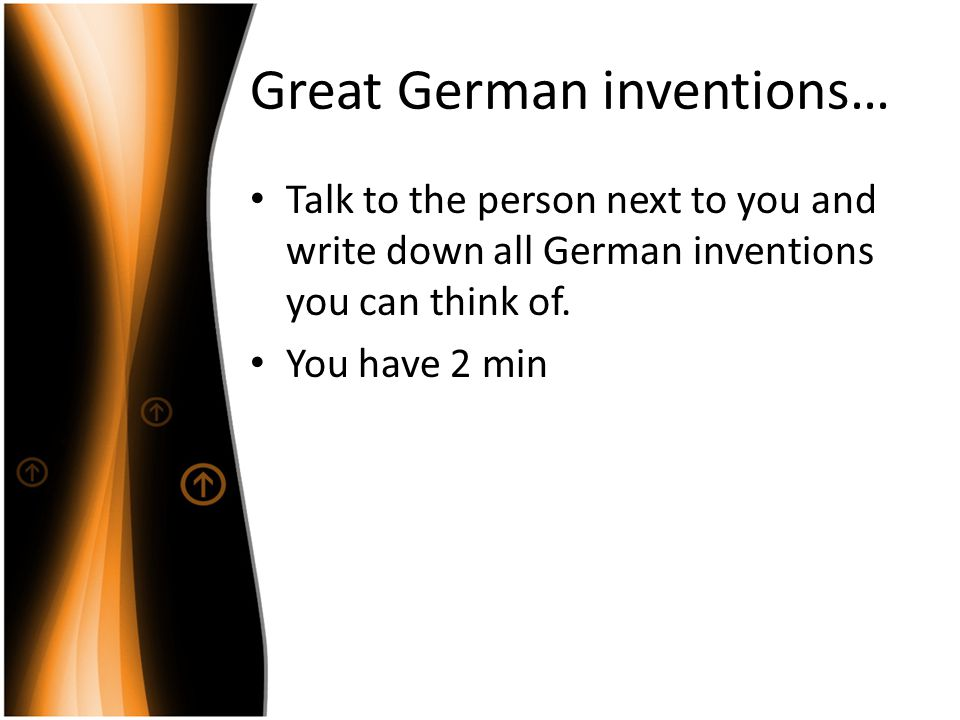 Great German inventions…