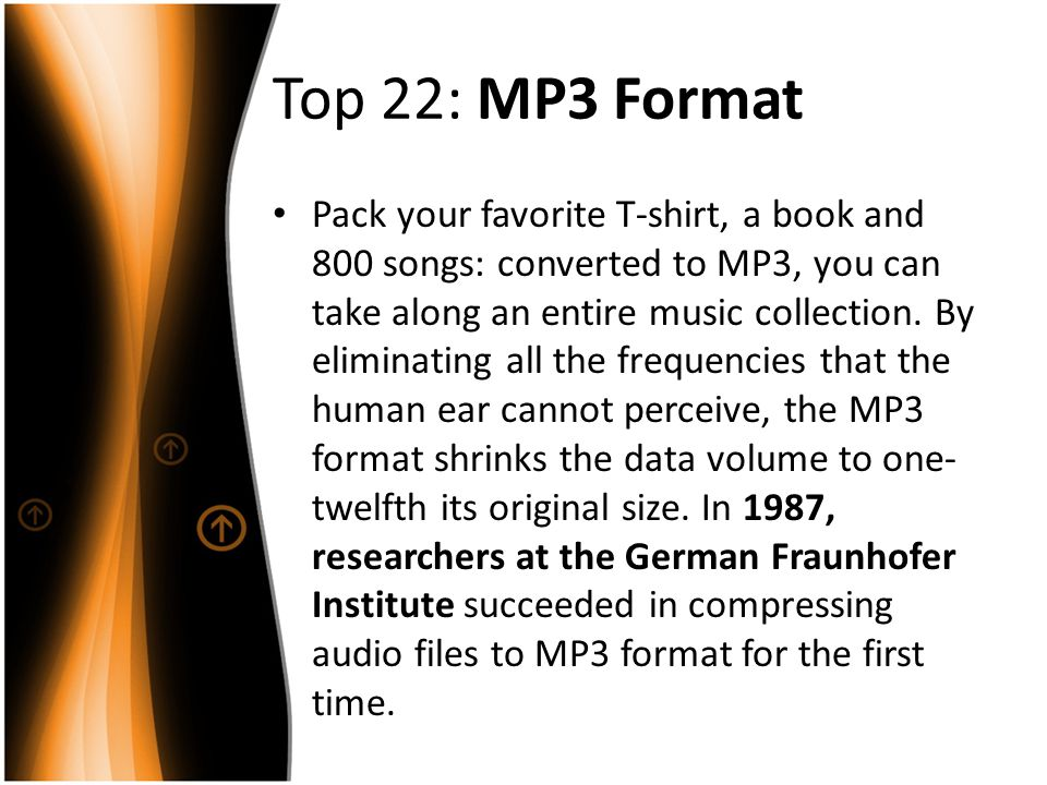 Top 22: MP3 Format
