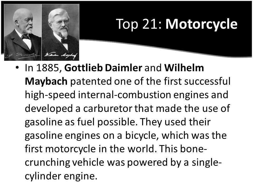 Top 21: Motorcycle