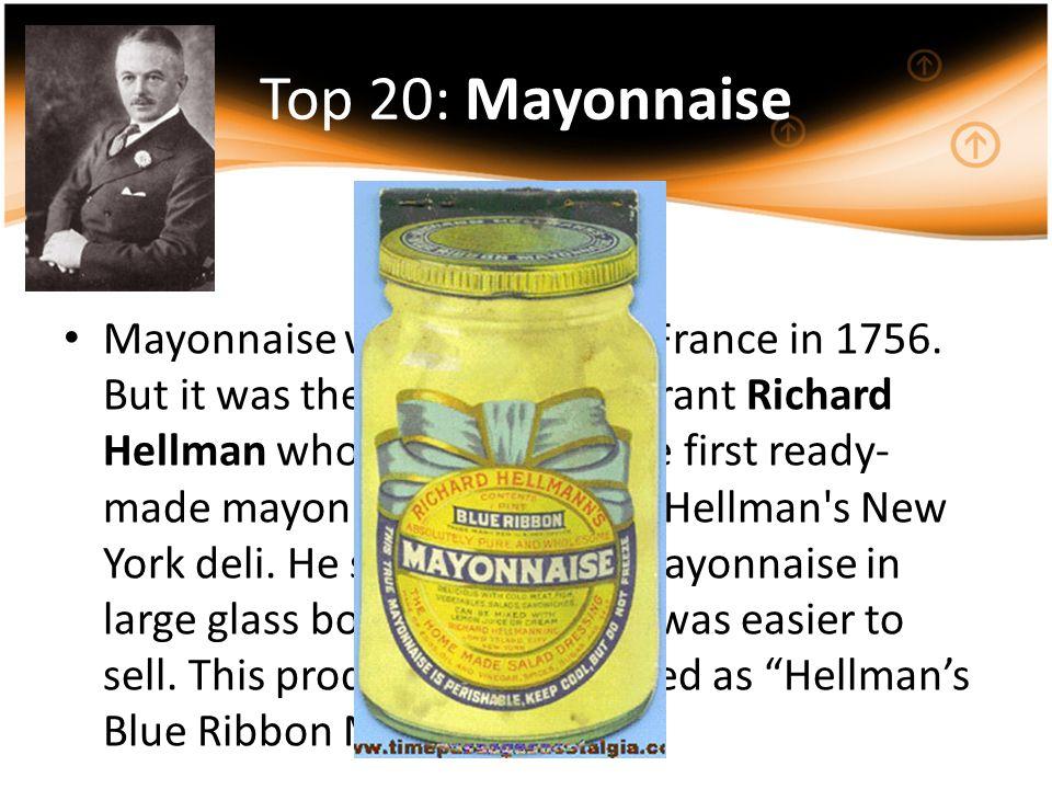 Top 20: Mayonnaise
