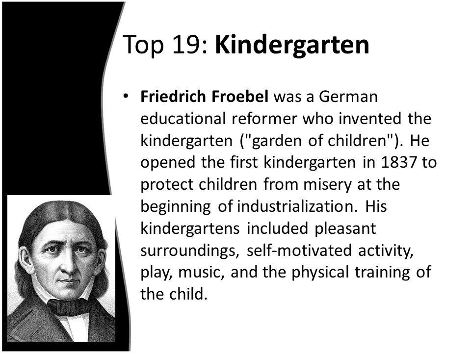 Top 19: Kindergarten