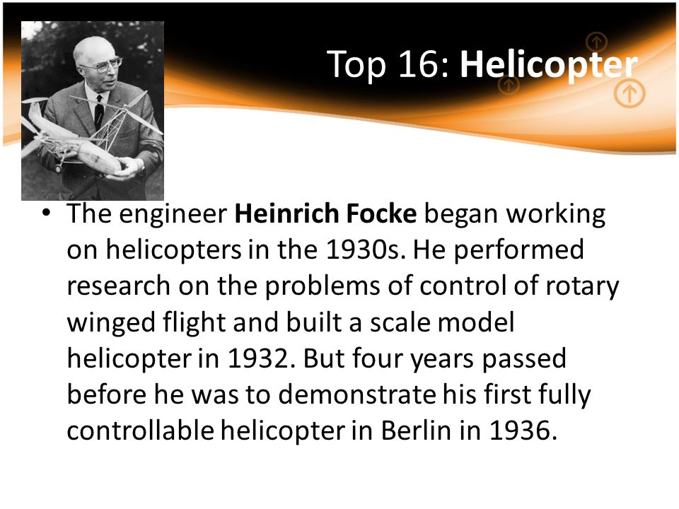 Top 16: Helicopter