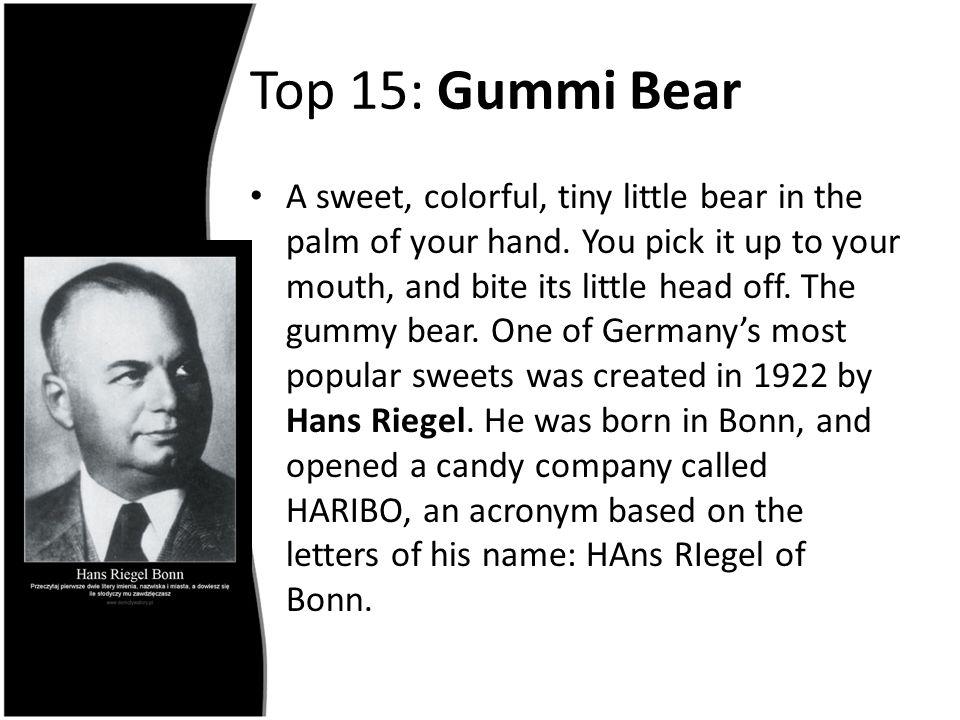 Top 15: Gummi Bear