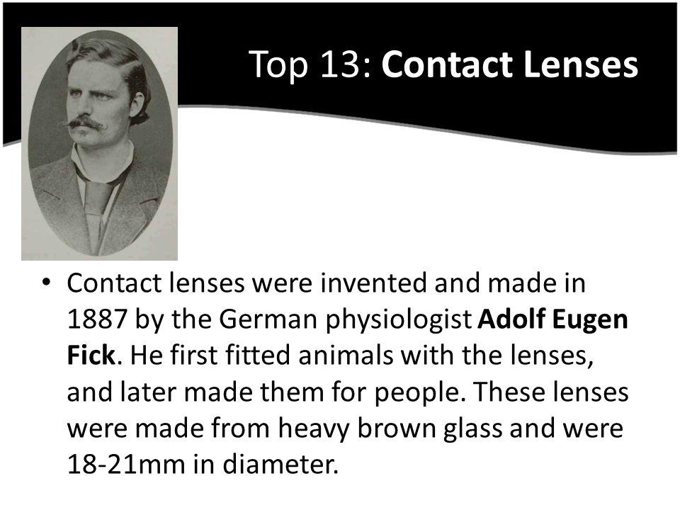 Top 13: Contact Lenses