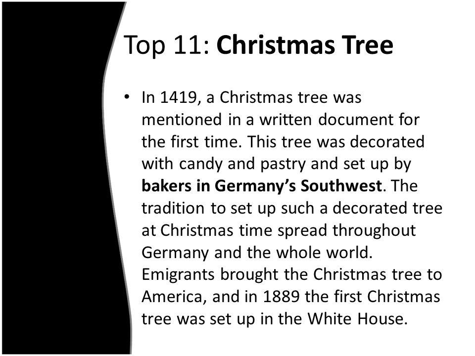 Top 11: Christmas Tree