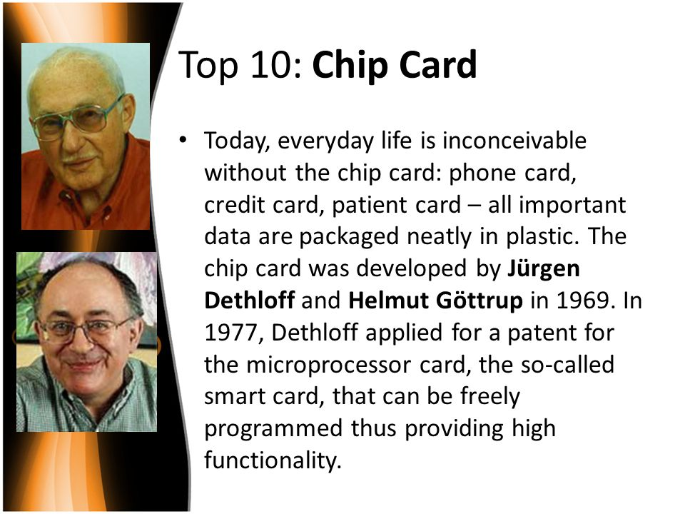 Top 10: Chip Card