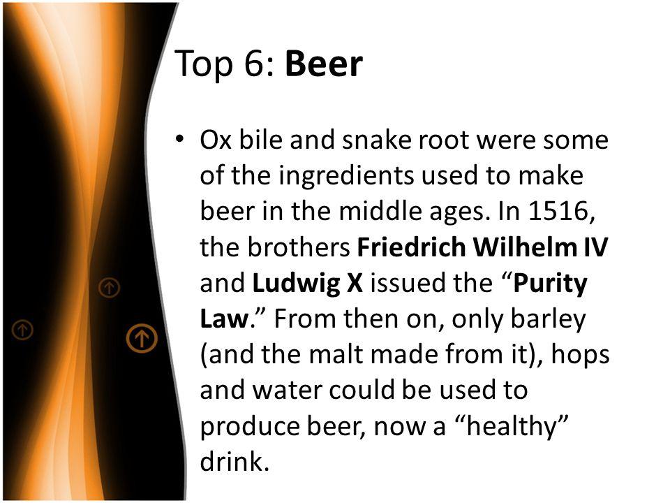Top 6: Beer